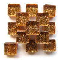 10mm Mini Glitter Tiles - Copper Clad - 50g