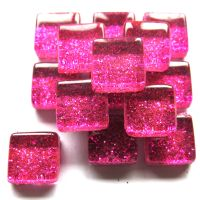10mm Mini Glitter Tiles - Fuchsia Magic - 50g