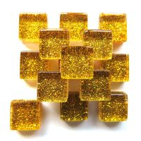 10mm Mini Glitter Tiles - Gold Glitter - 50g