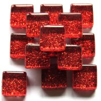 10mm Mini Glitter Tiles - Heartbreak Red - 50g