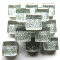 10mm Mini Glitter Tiles - Quicksilver - 50g