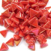 10mm Triangle - Coral Red Pearlised - 50g