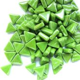 10mm Triangle - Green Grass Pearlised - 50g