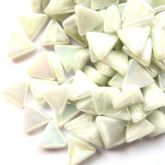 10mm Triangle - Snow White Pearlised - 50g