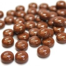 12mm Round Drops - Chocolate Gloss - 50g