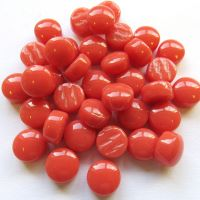 12mm Round Drops - Coral Red Gloss - 50g