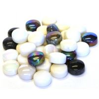 12mm Round Drops - Ebony & Ivory - 50g