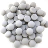 12mm Round Drops - Grey Matte - 50g