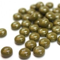 12mm Round Drops - Light Khaki Green Gloss - 50g