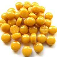 12mm Round Drops - Mustard Gloss - 50g