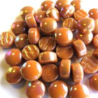 12mm Round Drops - Toffee Pearlised - 50g