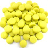 12mm Round Drops - Yellow Matte - 50g