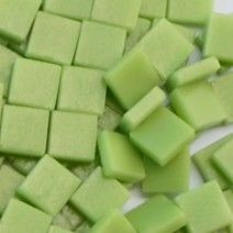 12mm Square Tiles - Apple Green Matte - 50g