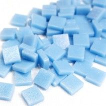 12mm Square Tiles - Baby Blue Matte - 50g