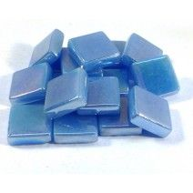 12mm Square Tiles - Baby Blue Pearlised - 50g