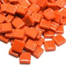 12mm Square Tiles - Burnt Orange Gloss - 50g