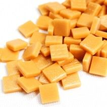 12mm Square Tiles - Butterscotch Matte - 50g