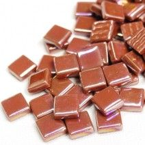 12mm Square Tiles - Caramel Pearlised - 50g