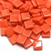 12mm Square Tiles - Coral Red Gloss - 50g