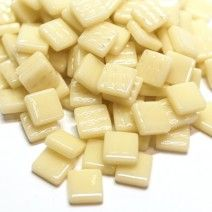 12mm Square Tiles - Cream Gloss - 50g