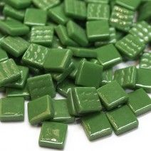 12mm Square Tiles - Dark Green Gloss - 50g