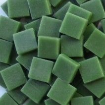 12mm Square Tiles - Dark Green Matte - 50g