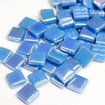 12mm Square Tiles - Delphinium Blue Pearlised - 50g