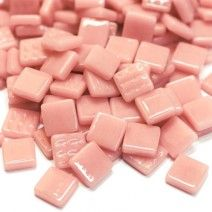 12mm Square Tiles - Dusky Pink Gloss - 50g