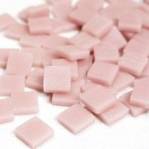 12mm Square Tiles - Dusky Pink Matte - 50g