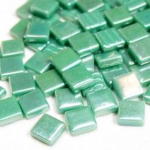 12mm Square Tiles - Emerald Green Pearlised - 50g