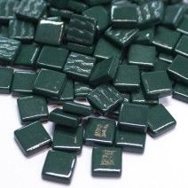 12mm Square Tiles - Forest Green Gloss - 50g