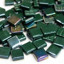 12mm Square Tiles - Forest Green Pearlised - 50g