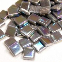 12mm Square Tiles - Grey Pearlised - 50g