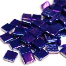 12mm Square Tiles - Indigo Pearlised - 50g