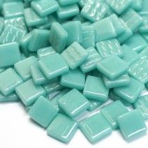 12mm Square Tiles - Jade Green Gloss - 50g