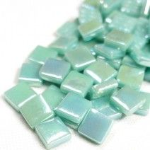 12mm Square Tiles - Jade Green Pearlised - 50g