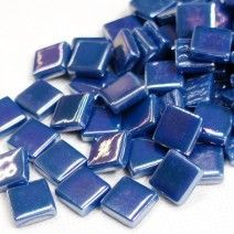 12mm Square Tiles - Kingfisher Blue Pearlised - 50g
