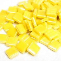 12mm Square Tiles - Lemon Pearlised - 50g