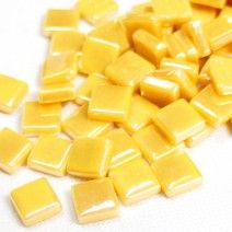 12mm Square Tiles - Lemon Sherbet Pearlised - 50g