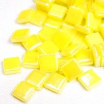 12mm Square Tiles - Lemon Tart Pearlised - 50g