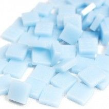 12mm Square Tiles - Light Blue Matte - 50g
