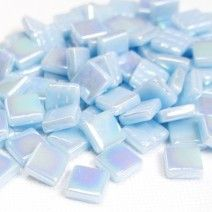 12mm Square Tiles - Light Blue Pearlised - 50g