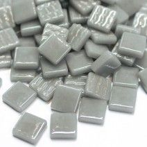 12mm Square Tiles - Light Grey Gloss - 50g