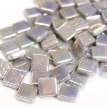 12mm Square Tiles - Light Grey Pearlised - 50g
