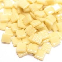 12mm Square Tiles - Light Ivory Gloss - 50g