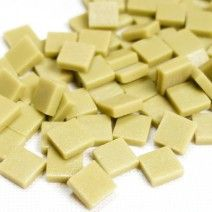12mm Square Tiles - Light Khaki Green Matte - 50g