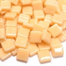 12mm Square Tiles - Light Peach Gloss - 50g