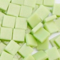 12mm Square Tiles - Light Pistachio Green Matte - 50g