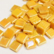 12mm Square Tiles - Mustard Pearlised - 50g