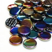 18mm Round - Black Pearlised - 50g